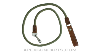 WWII Russian Nagant M1895 Revolver Lanyard, Canvas, *Excellent*