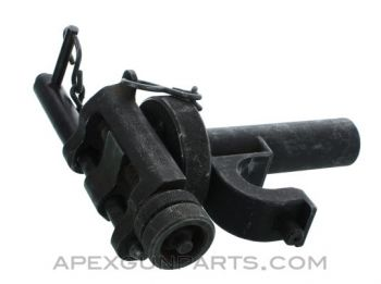 T&E Mechanism, Fits M3 Tripod & M2 .50 Browning, New Style Pin, Missing Lock Lever, *Good*, Sold *As Is*