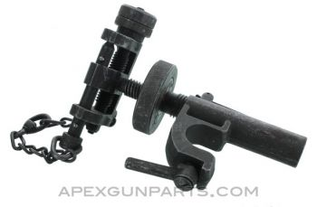 T&E Mechanism, Fits M3 Tripod & M2 .50 Browning, Complete with Early Pin, *Good*