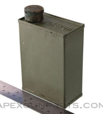 Yugoslavian M53 Oil Can, Steel, Green, *Good*