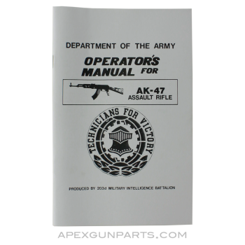 AK-47 Operator's Manual, USGI, Paperback, *NEW*