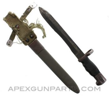 CETME Model C, FR7, FR8 Bayonet and Scabbard, *Fair*