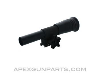 German PZF-44 2x15 Scope with Mount, Long Tube, Black, *Good to Very Good*