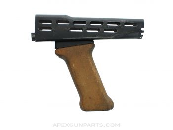 Hungarian AMD Stamped Steel Handguard and Wood Foregrip, *Good*
