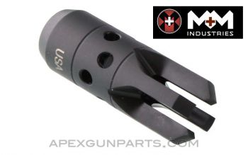 """Chaos"" AK Muzzle Device, 14X1 LH Thread, US Made 922(r) Compliance Part, by M+M, *NEW*"