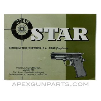 STAR Pistol Booklet, Original Spanish, *Good*