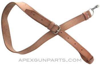 Hungarian AK-47 Sling, Leather, *Good to Excellent*