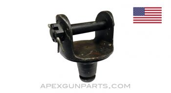 Pintle For M2 & M3 Tripod, with Bolt, Fits .30 & .50 Cal. Guns, Early 1 Ring, *Very Good*