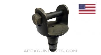 Pintle For M2 & M3 Tripod, with Bolt, Fits .30 & .50 Cal. Guns, 2 Ring 1917 Style with 2-Step Base, *Very Good*
