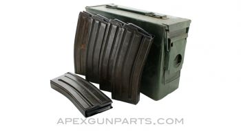 CETME Model L / AR-15 Support Pack! (1) .30 Cal. Ammo Can, (5) 30rd CETME Model L / AR-15 Steel Magazines, 5.56x45 NATO