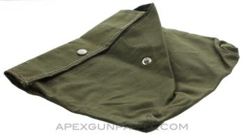 PSL/FPK 7.62X54R Single Pocket Pouch, Green Canvas, *Good to Very Good*