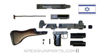 UZI Parts Kit w/ Fixed Wood Stock, TYPE 2, Includes Trunnion & Cut Receiver, *Good To Very Good*