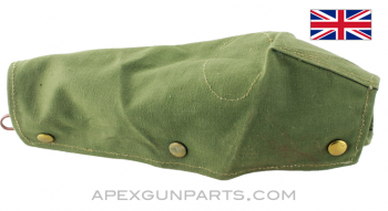 Lee-Enfield Rifle Action Cover, OD Green Canvas, Brass Snaps *Very Good*