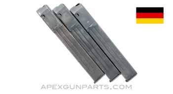 MP 38 / MP 40 Magazine, Ribbed, 32rd, 9mm, Blued, *Good*