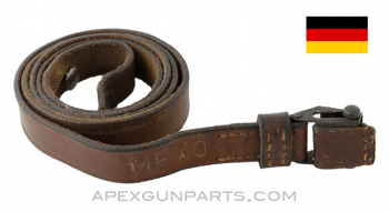 MP 40 Sling, Brown Leather, Marked, *Very Good*