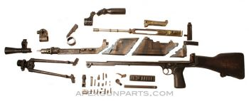 Bren Mark III Parts Kit w/ Cut Receiver Pieces, .303 British, *Good*