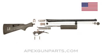 Remington 870 Kit with Davis SpeedFeed Stock, 20 Inch Magnum Barrel, Cylinder Choke, 4 Round, 12 Gauge, *Good*