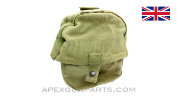 Lewis Gun Magazine Pouch, WWII, OD Green Canvas, South African Made *Good*