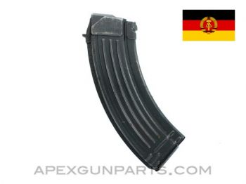 AK-47 30rd Steel Magazine, 7.62x39, East German, Blued, *Good to Very Good*