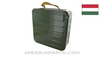 Hungarian PKM Ammo Can, With 250rd Belt, Aluminium, Green, *NOS*