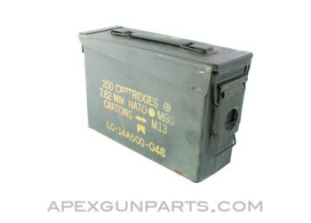 USGI .30 Cal. Ammo Can M19A1, Steel w/Carry Handle, Green, *Good to Very Good*