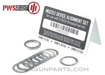 PWS Muzzle Device Alignment Ring Set, 5/8x24, US Made, *NEW*