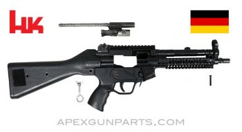 "H&K MP5 Parts Kit, 8.5"" BBL, 3 Position Lower (S, E, F), Polymer Fixed Stock, Picatinny Scope & Acc. Rails, 9mm, *Very Good*"