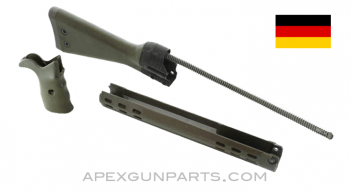 G3 / HK91 Stock Assembly with Handguard and Grip, Green, *Good*