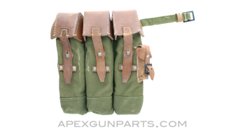 MP44 Magazine Pouch, Left Side, Reproduction, Green Canvas *Good*