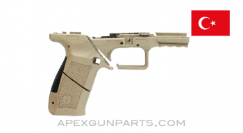 Canik TP9 SA Pistol Frame, Stripped, Saw Cut, Desert Tan Polymer, Sold *As Is*