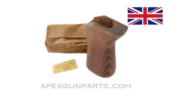 Bren Mk2 Wood Pistol Grip, Wood, Small hole, *NOS*
