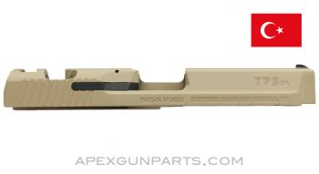 Canik TP9 SA Pistol Slide, 9x19, Desert Tan, Fixed Front Sight, Mostly Stripped, *Very Good*