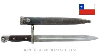 Mauser Chilean M1895 Bayonet and Scabbard, *Fair*