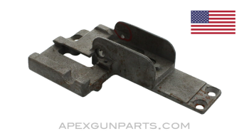 Browning M2 .50 Cal. Rear Sight Base, Stripped, Early Style w/ Scope Base, Bead Blasted, *Good*