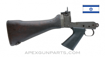 Israeli FAL Buttstock Assembly, With Lower, Stripped, *Good*