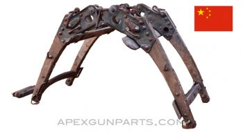 Chinese Military Pack Saddle Frame, Metal & Wood, for Cargo  *Fair*