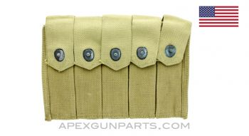 Thompson SMG 5 (20rd) Magazine Divided Pouch, *Very Good*