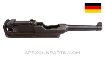 """C96 Mauser Pistol Barrel and Extension, 4"""", w/ Adjustable Rear Sight, Pitted Bore, 7.63x25, *Good*"""