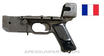 French MAT-49 Project Lower Receiver, W/ Trigger Group & Pistol Grips, W/O Grip Safety *Fair*