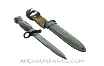 M1 Carbine Bayonet and Scabbard, Italian Issue, *Very Good*