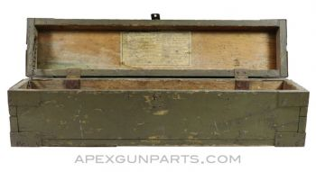 WWII Purves Manufacturing Wood Tool Box, 1944 *Good*