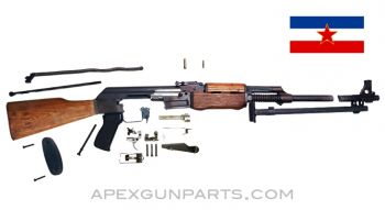 Yugoslavian M72B (RPK) Parts Kit, Matched, *Good* w/Light Rust