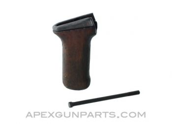 Romanian RPK Early Wooden Pistol Grip with Metal Ferrule, *Fair*