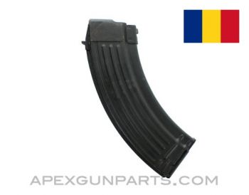 AK-47 Magazine, 30rd Steel, 7.62x39, Romanian, Blued, *Very Good*
