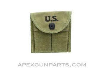 M1 / M2 Carbine Double Magazine Pouch, For Buttstock & Belt, 15rd, OD Green, *NEW*