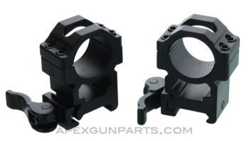 UTG 1inch Max Strength Scope Rings, QD Leverlock, High Profile, Set of 2, *NEW*