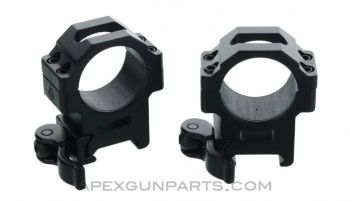 UTG 30mm Max Strength Scope Rings, QD Leverlock, Medium Profile, Set of 2, *NEW*