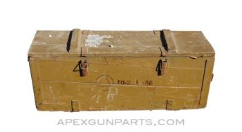 Thompson 1928A1 Wood Storage Crate, T1, OD Green, *Fair*, Sold *As Is*