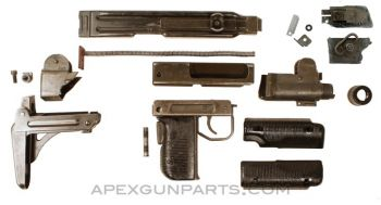 UZI Parts Kit w/Folding Steel Stock, Includes Front Trunnion, *Good To Very Good*
