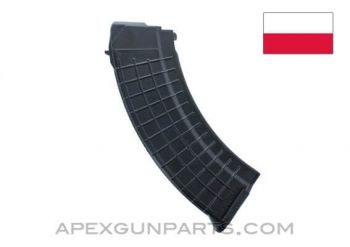 AK-47 Magazine, 25rd, Black Polymer, 7.62X39, Polish, *NEW*